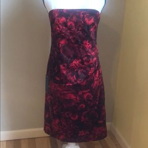 Ann Taylor strapless Rose dress.